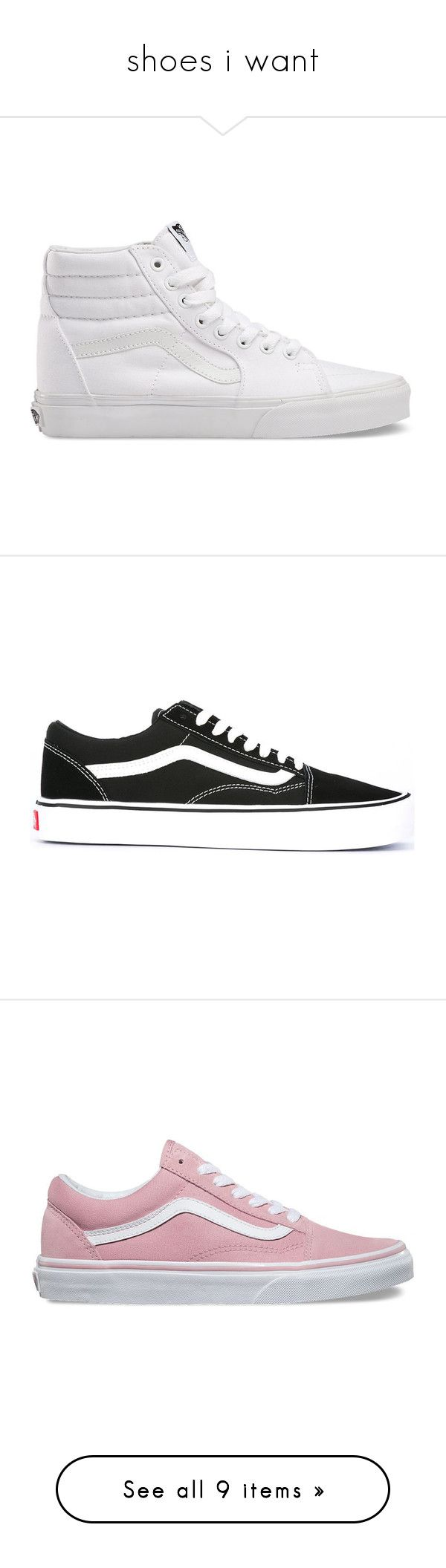 """""""shoes i want"""" by mcc625 on Polyvore featuring shoes, sneakers, vans, momma shoes, trainers, white, true white, vans high tops, vans sneakers and white high top sneakers"""