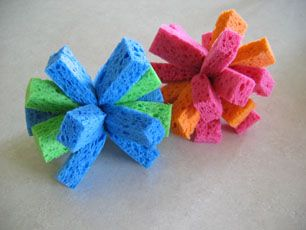 Water balloon fight? Nope, water sponge fight!!! Use them over and over and over again and they don't pollute with little shreds of balloon!