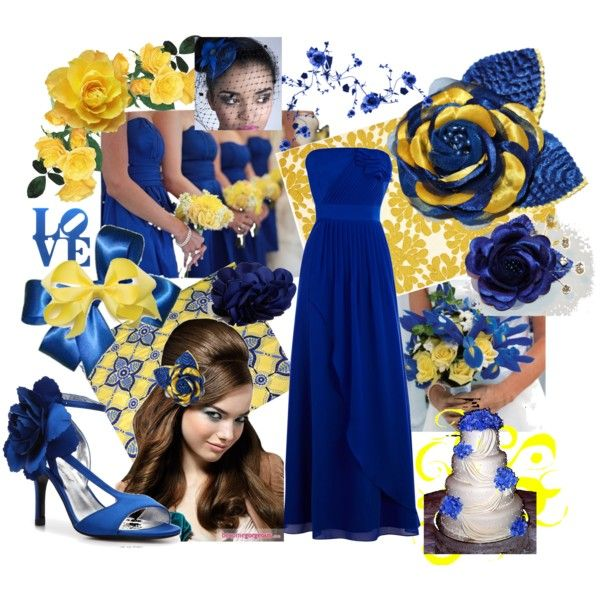 Royal Blue Yellow Wedding By Tweeterj On Polyvore