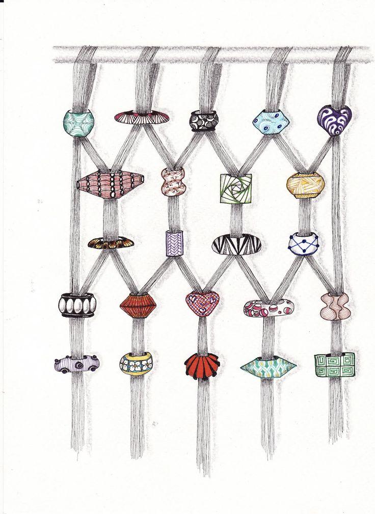 inquisitive-Sue: Zentangle Challenge #91 - Beads of Courage