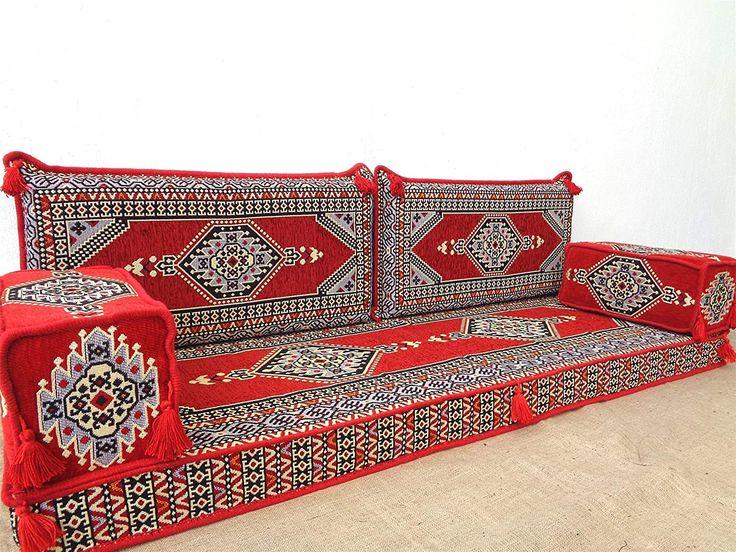Hookah Lounge Arabic Floor Seating Pillowcase Cushion