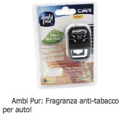 Testa gratuitamente la fragranza anti-tabacco per auto!