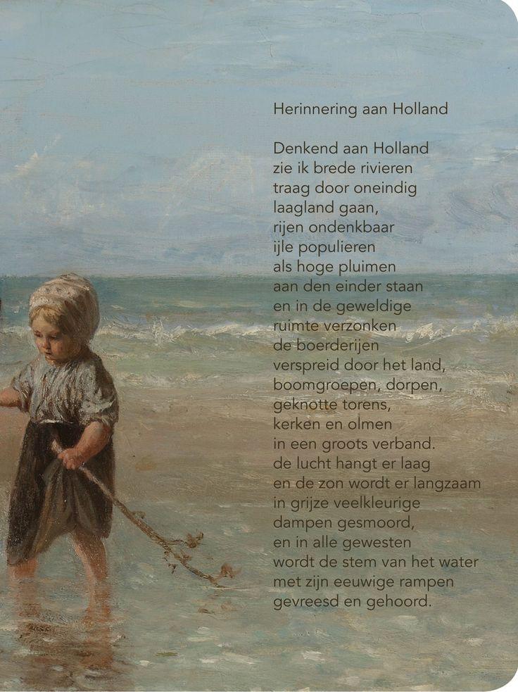 Bij de hand, Bij de hand, Paspoorthoesje, Herinnering aan Holland, Marsman.