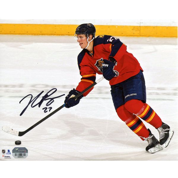 "Nick Bjugstad Florida Panthers Fanatics Authentic Autographed 8"" x 10"" Red Jersey Skating With Puck Photograph - $34.99"