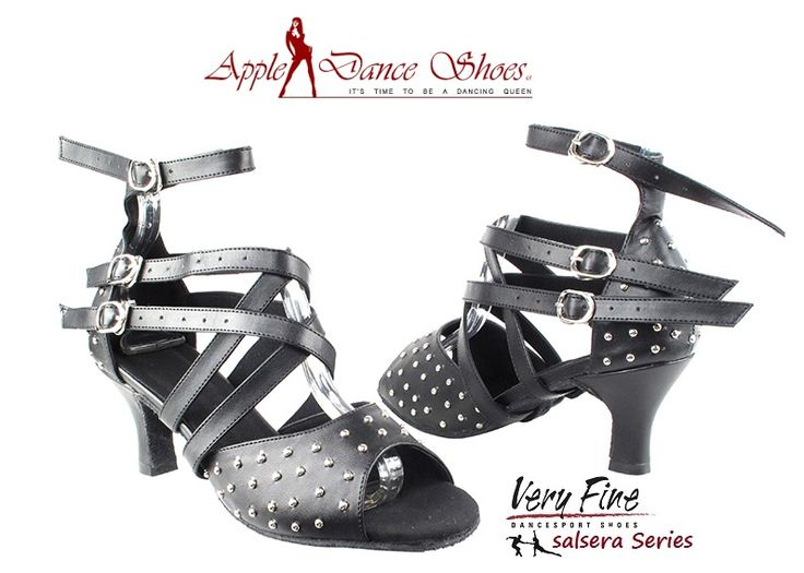 SERA7011 Black Leather **Also avaiable in Copper, Gold, & Black Sparkle** Appledanceshoes.com