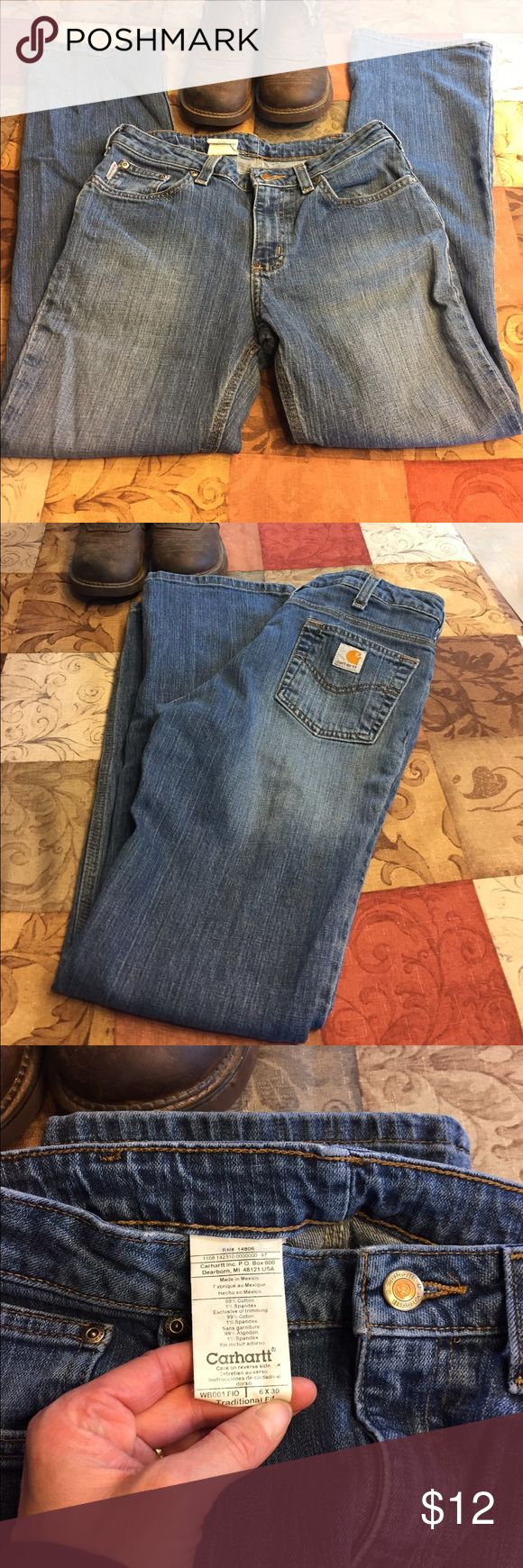 Jeans Carhart jeans worn a few times in good condition.  No rips stains or wear.  Thanks for checking out my closet! Carhartt Jeans Straight Leg