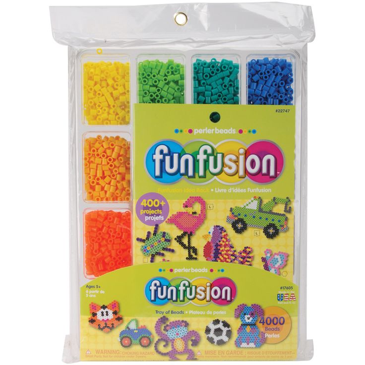Perler Fun Fusion Beads 4000/Pkg-Tray of Beads