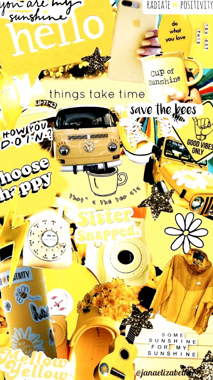 yellow aesthetic locksceen yellowaesthetic