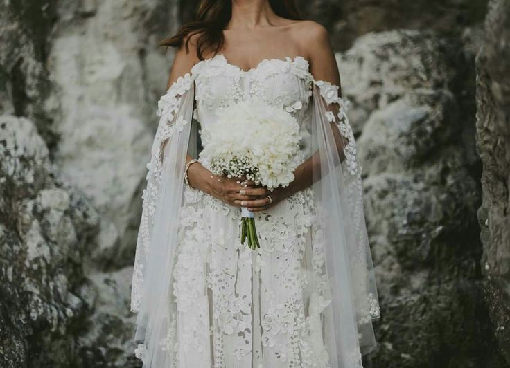 Beautiful white wedding dress