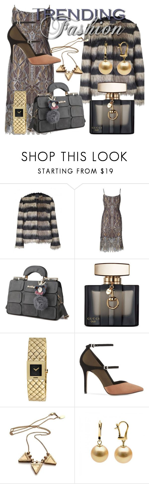 """Fashion Trending"" by drahuschka on Polyvore featuring Ichi, BCBGMAXAZRIA, Gucci, Chanel and Reiss"