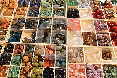 Gemstones jewelery - placed in plastic squares.