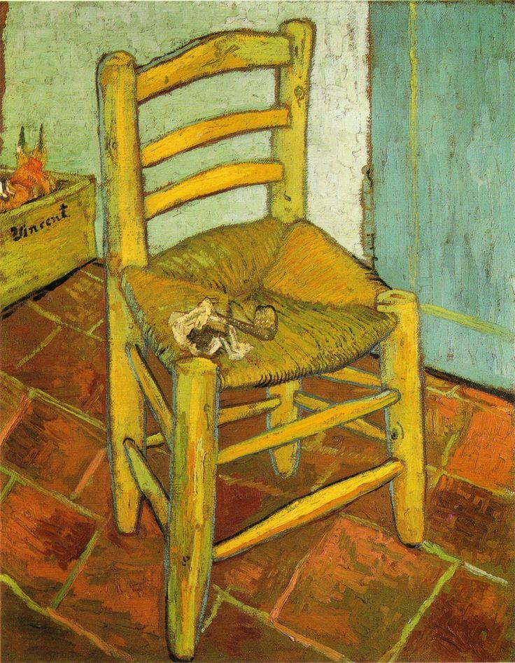 """"""" La sedia di Vincent"""", olio su tela, Londra, National Gallery, 1888."""
