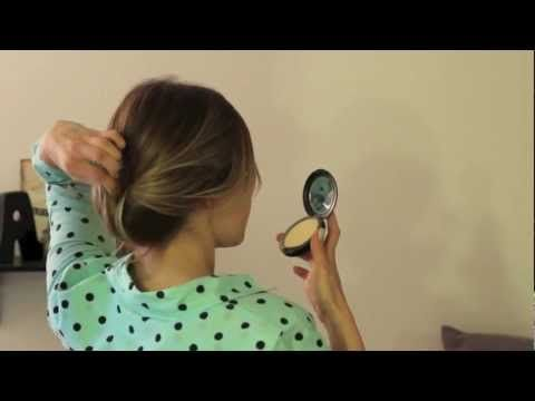 Easy Chignon Tutorial - http://ezbeautytips.com/1/easy-chignon-tutorial/   In this tutorial I will teach you how to put your hair in an easy chignon. You can make it as neat and polished as you want or leave it a little undone and messy. For more tutorials visit my blog at trulyooly.blogspot.com.  https://www.avon.com/?repid=16581277