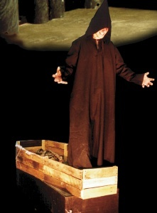 actor in the box haunted house levitation prop on sale 1795 man rises up out of - Halloween Props For Sale