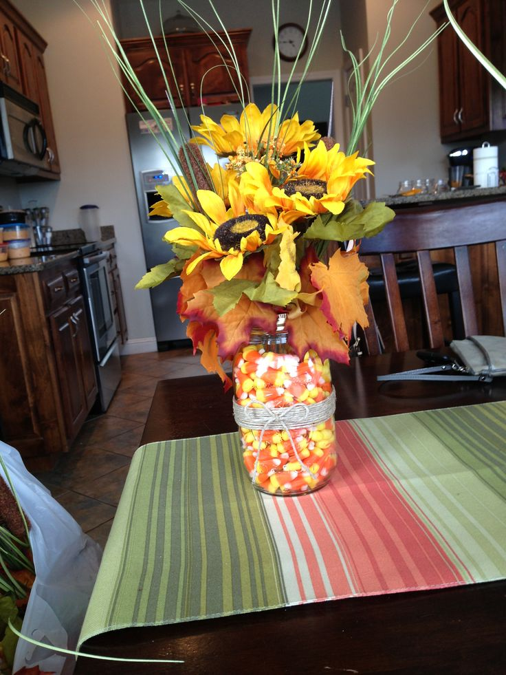 Fall centerpieces I made for our family reunion in October.