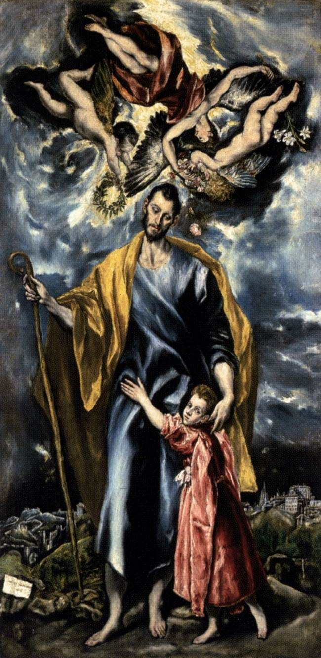 El Greco, St Joseph and the Christ Child