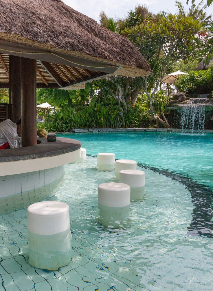 The pool bar.  During our stay at the Grand Mirage in Nusa Dua, Bali we had just too much fun. #Bali #FamilyTravel