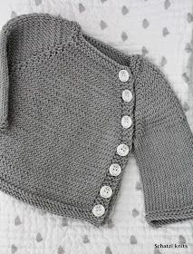 Blogged at Schatzi's knits: Never enough baby knits- Puerperium cardigan
