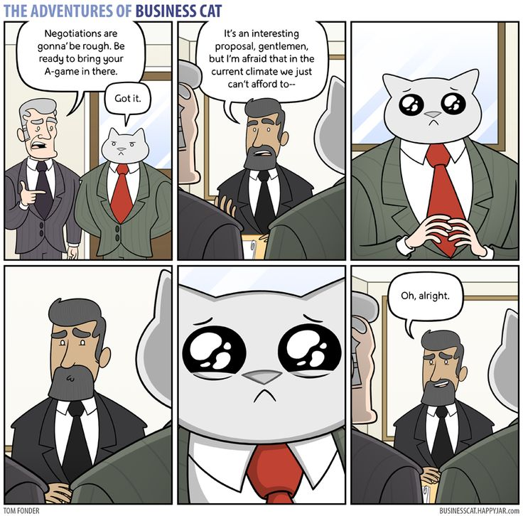 The Adventures of Business Cat — (via Business Cat - Negotiations)