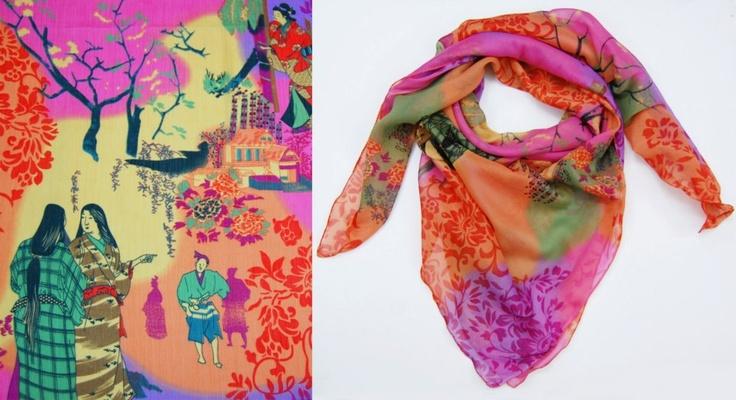 Oriental Print scarf