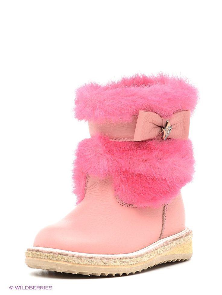 Нарядные сапоги для девочек. Модель на прочной рельефной подошве, украшенная мягкой опушкой и бантом. Восхитительный выбор на холодный сезон.