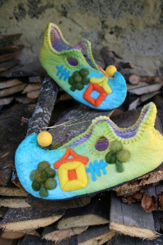 shoes for home Elven summer от ViktoriyaFelt на Etsy