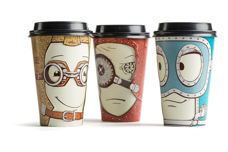 Cool Coffee Cup Designs by Backbone Branding - http://designyoutrust.com/2014/09/cool-coffee-cup-designs-by-backbone-branding/