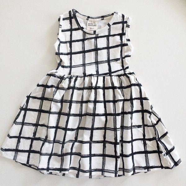 Grid Singlet Dress - Milk & Masuki