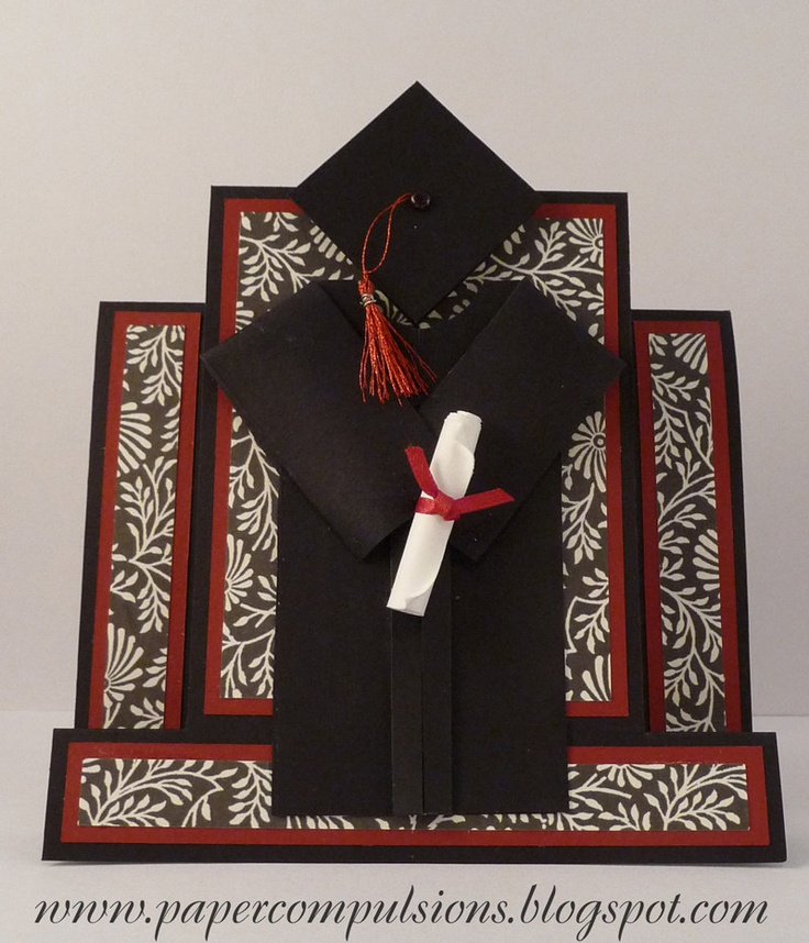 Graduation Cap and Gown Card Cut Files $3.00