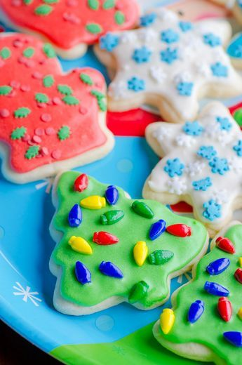 how to make a christmas tree out of icing