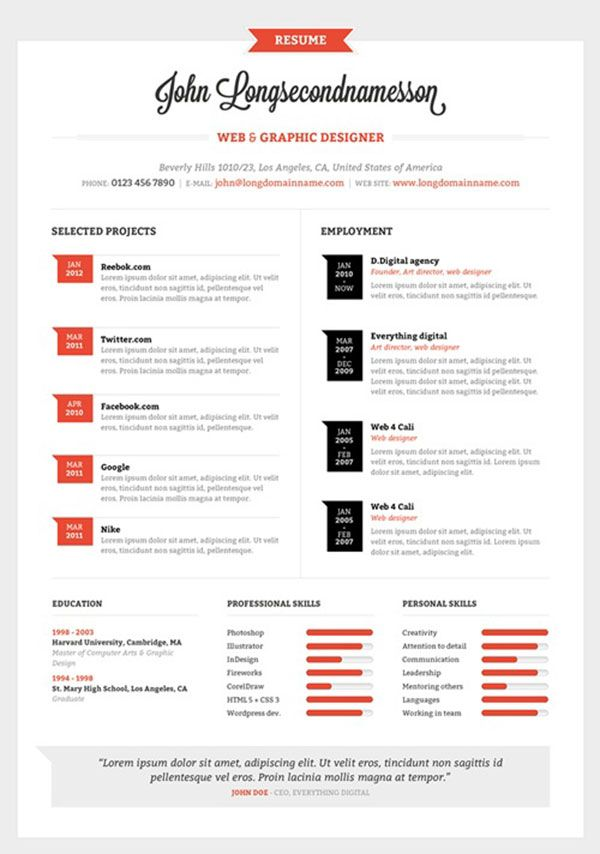 best resume design templates creative word resume templates