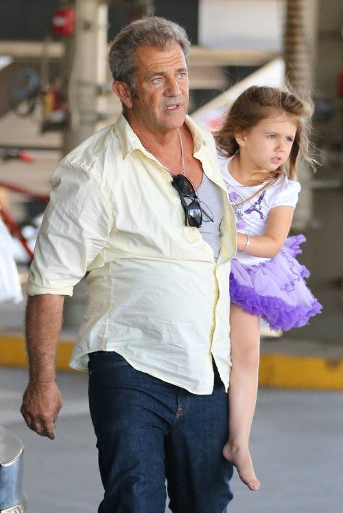Mel Gibson with 3-year-old daughter Lucia