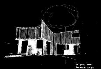 A façade study drawing
