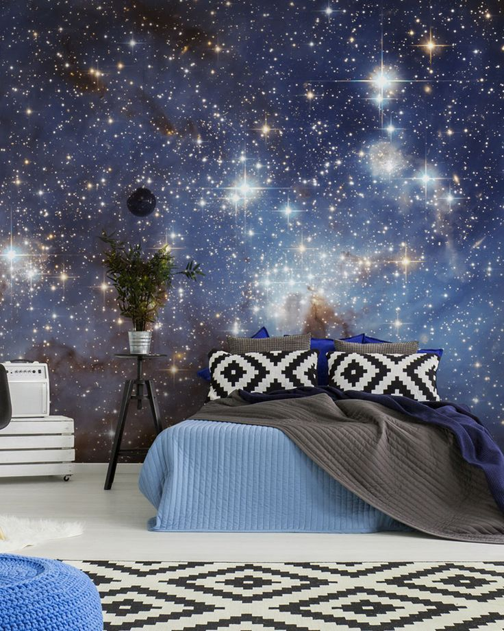 Galaxy Wallpaper That S Out Of This World Wallsauce Us Wallpaper Design For Bedroom Bedroom Design Galaxy Bedroom
