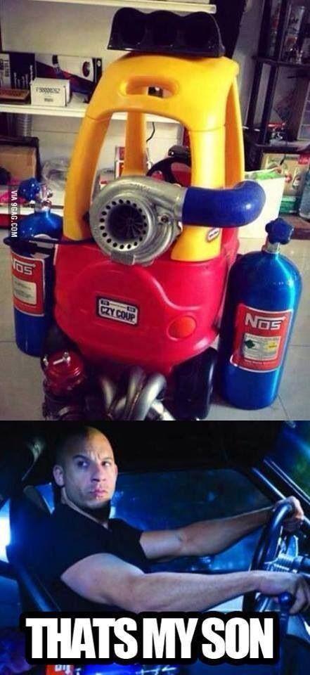 Auto humor kids funny fast cars