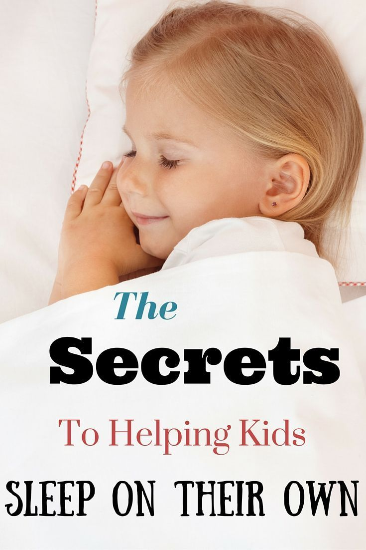Helping kids sleep on their own in their own beds at night doesn't have to be difficult. Find out the secrets to get children sleeping on their own.