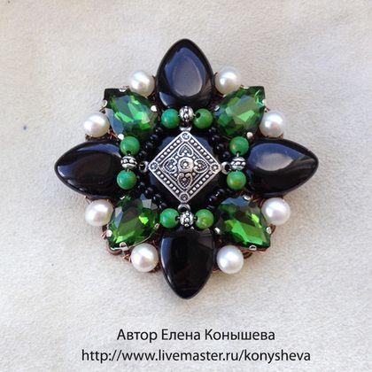 Брошь-орден Благородный изумруд - зелёный,брошь,брошка,брошь ручной работы http://www.livemaster.ru/konysheva brooch, jewellery, украшения