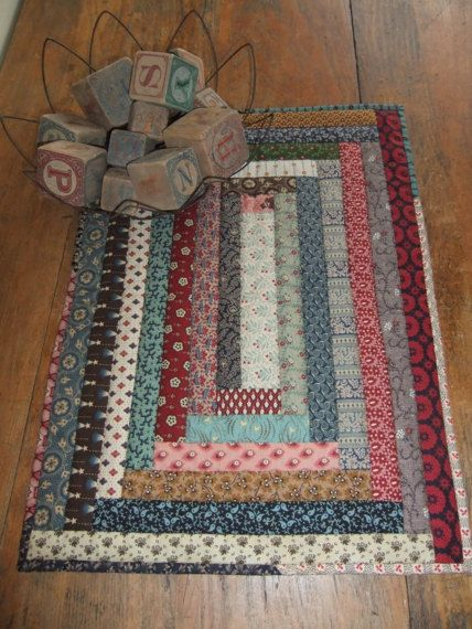 Primitive Quilted Table Runner