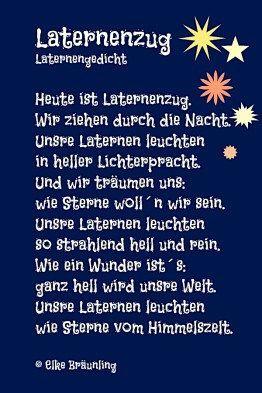Laternenzug. Laternengedicht. – Anja Schwoerer