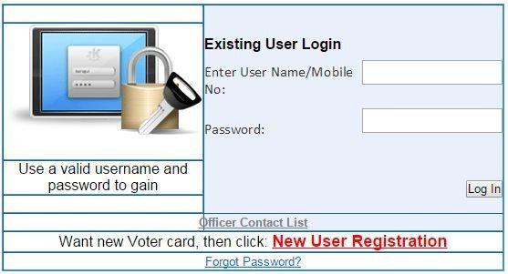 apply online for voter id card registration.