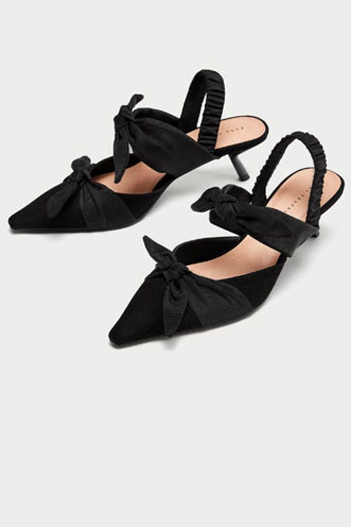 100 Zapatos Para Pisar Fuerte Este Otono Invierno Stylelovely Slingback Shoes Slingback Kitten Heel Shoes
