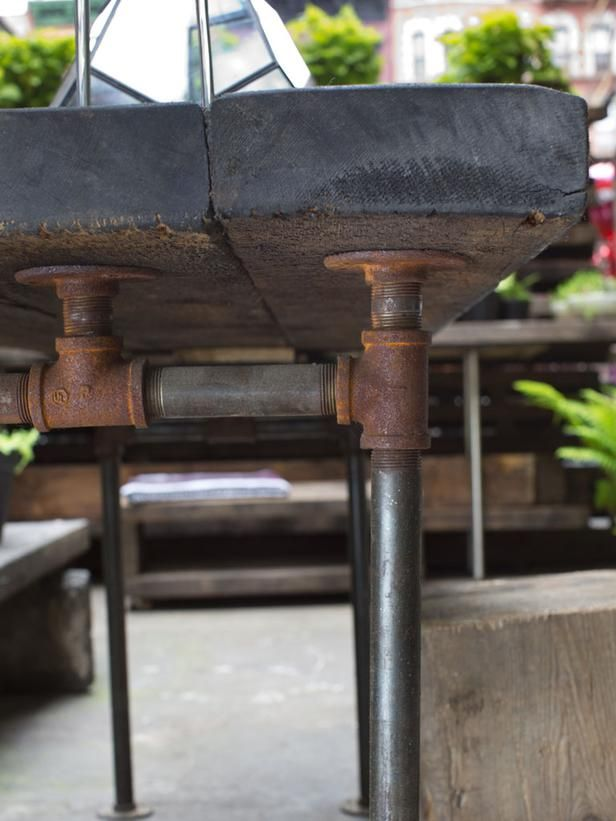 Metal Pipe Outdoor Dining Tables And Galvanized Metal On Pinterest