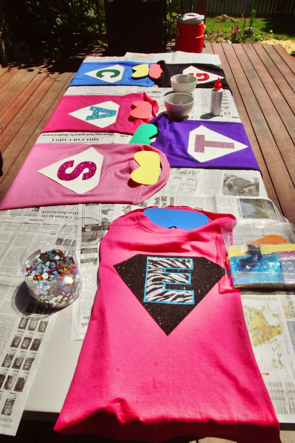 """Cape and Mask Decorating Station and Super Hero in Training """"Stations"""""""