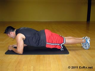The plank is one of the best multitasking moves to work your abs, your arms, and your back all at once.