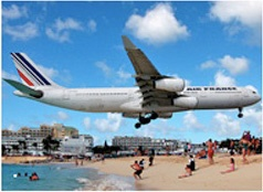 St. MartinAir France, Favorite Things, Favorite Places, Sunsets Beach, Beach Bars, Sunset Beach, France Land, Planes Land, Juliana Airports
