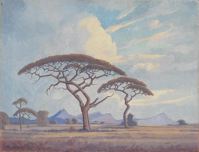 Camelthorn trees, Bushveld - JH Pierneef