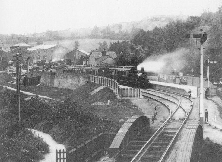 St Blazey Station, which closed in the 1930's.