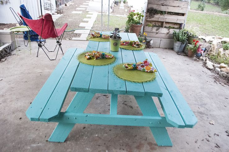 painted picnic table designs - Google Search