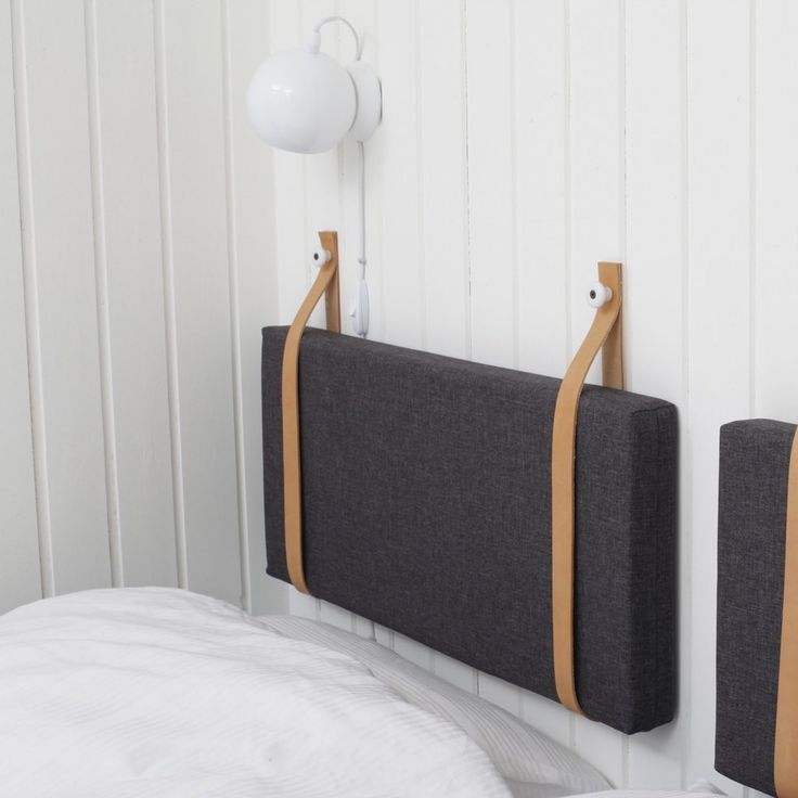 Læderremme til sengegavl