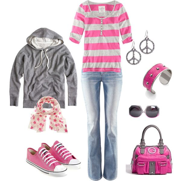like!: Pink Pink Pink, Up Jewelry Shoes, Cute Fall Outfits, Dreams Closet, Style, Clothing Mak Up Jewelry, Pink Outfits, Pink Lemonade, Fashion Conver